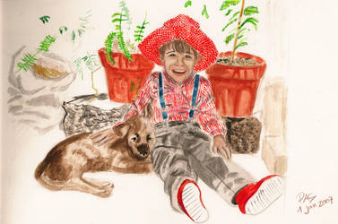 Boy and his dog by pedro-amaral-couto