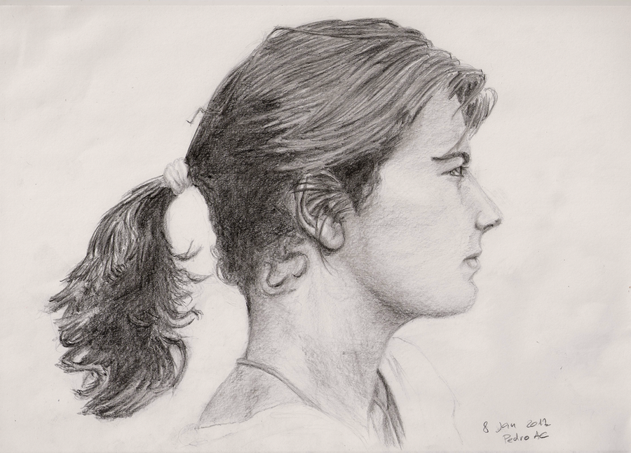 female face side view belita by pedro amaral couto on deviantart