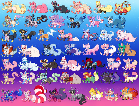 Huge Sylveon Fusion Batch [ Close: MOVED ]