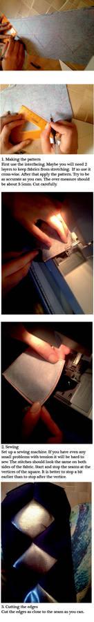 Tutorial: How to sew squares (Kuroshitsuji)