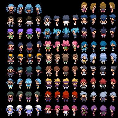 Pokemon Overworld Sprites by bws2cool