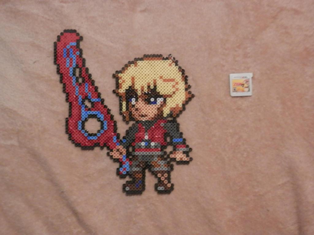 Super Smash Bros 4. Shulk Bead Sprite by MechaPoltergeist