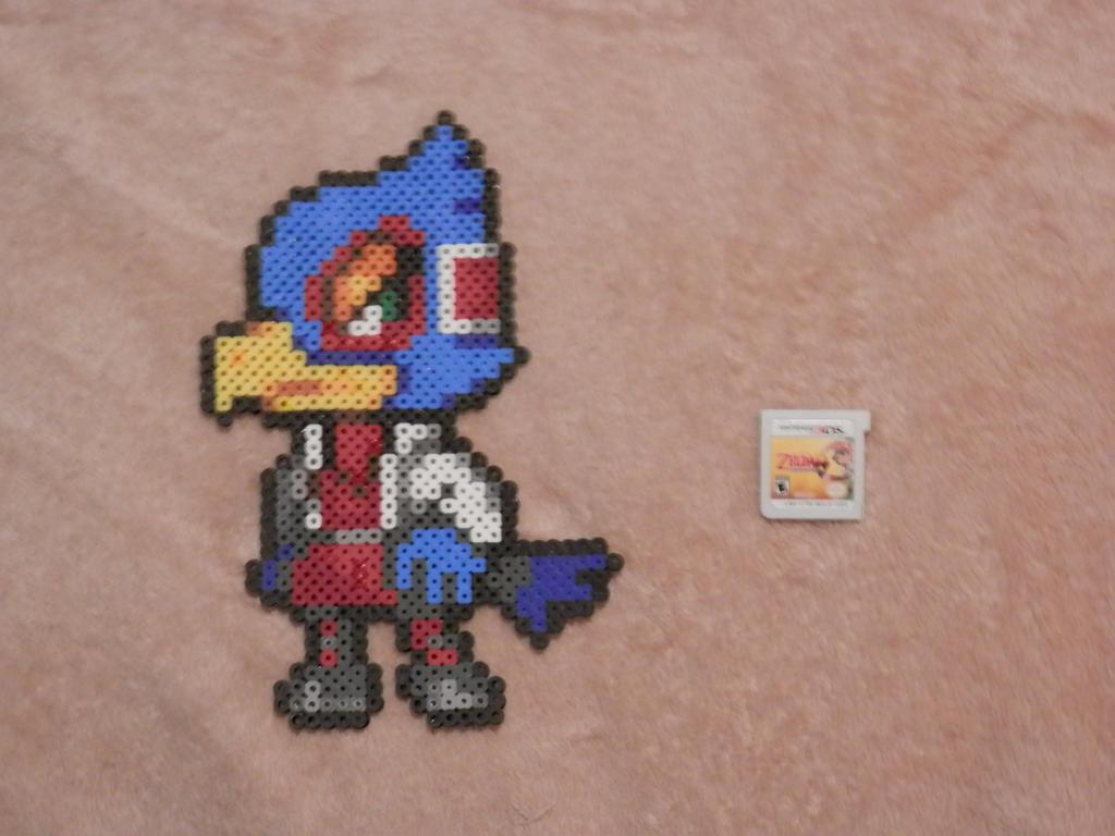 Super Smash Bros 4. Falco Bead Sprite by MechaPoltergeist