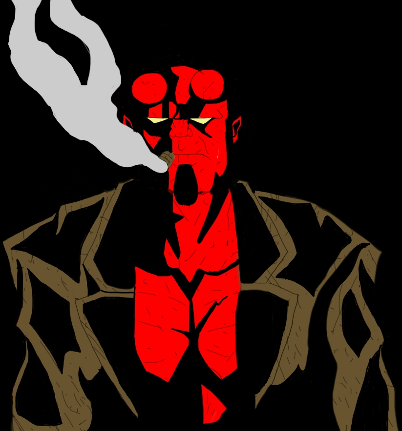 Hellboy by B-RizzleXXXX