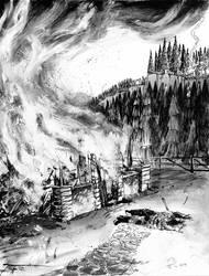 Burnt Home by TonyOjeda