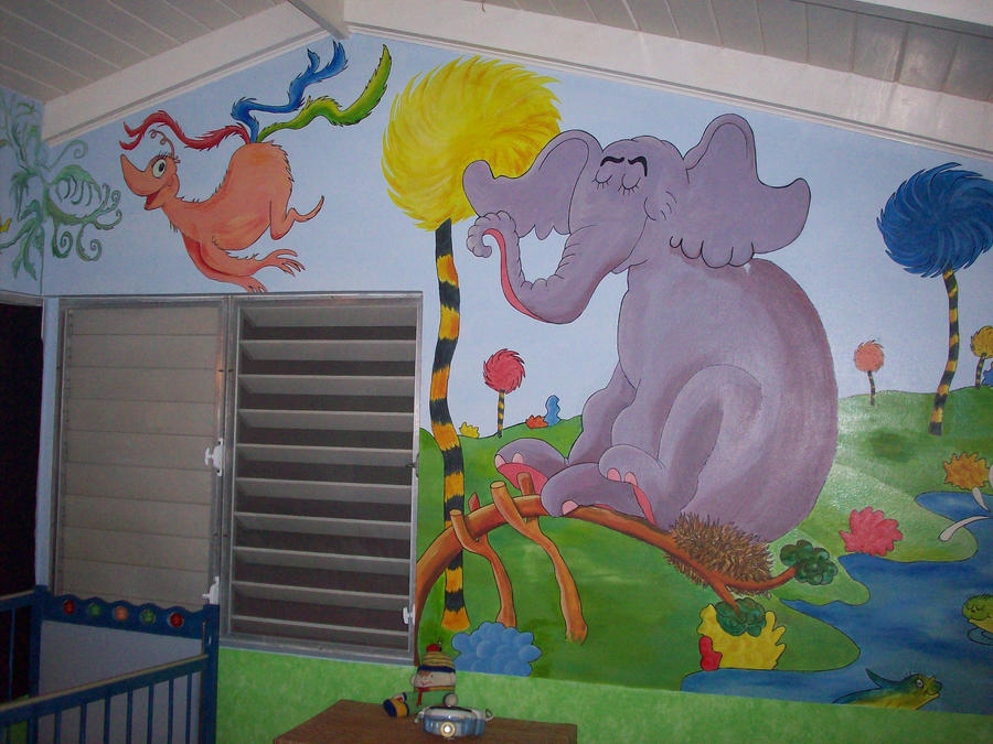 Dr seuss mural by f 22 raptor on deviantart for Dr seuss wall mural