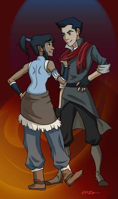 Korra and Mako: Nice Scarf