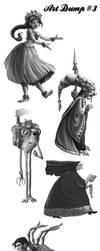 Doodle Dump #3 by AdventureIsOutThere