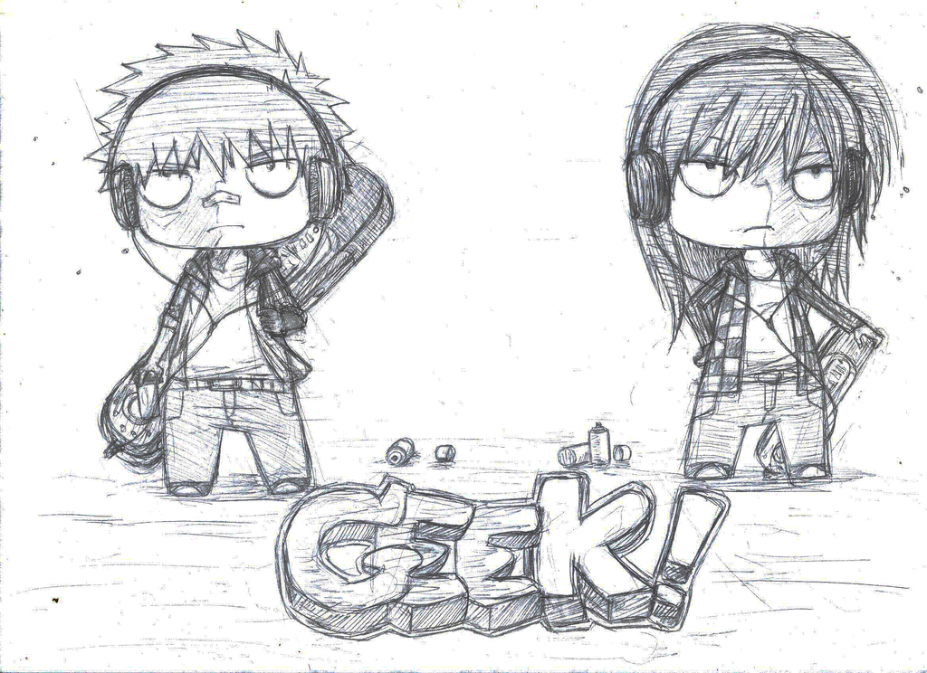 Illustration Chibi Geek By Kahfey