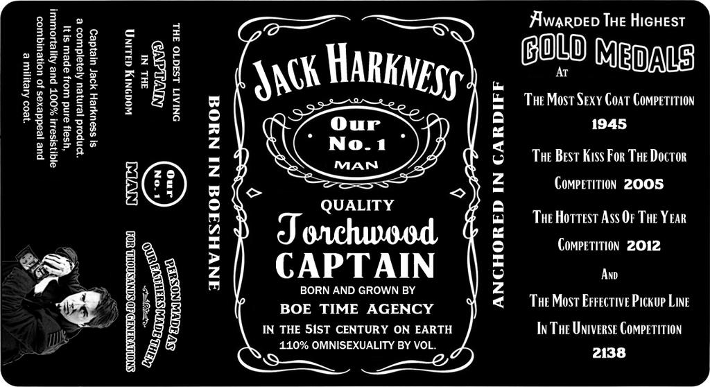 Super Jack Harkness Whiskey Label by Lord-Koprovold on DeviantArt FD29