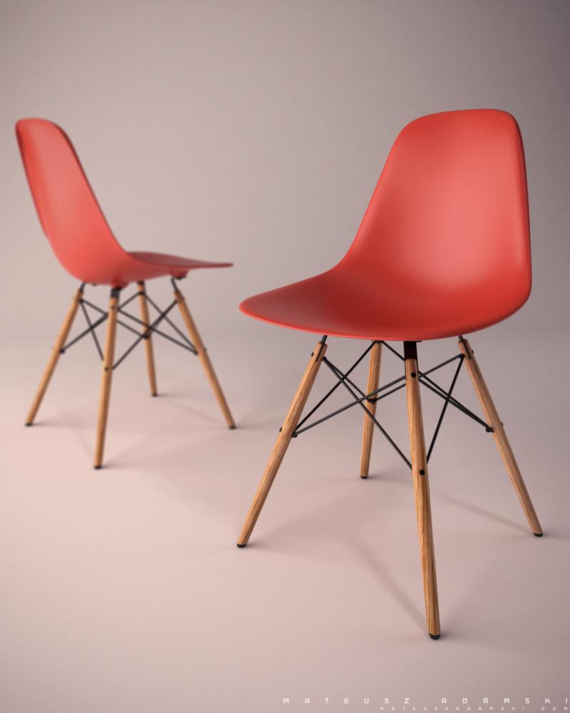 Eames Plastic Side Chair by Ineray