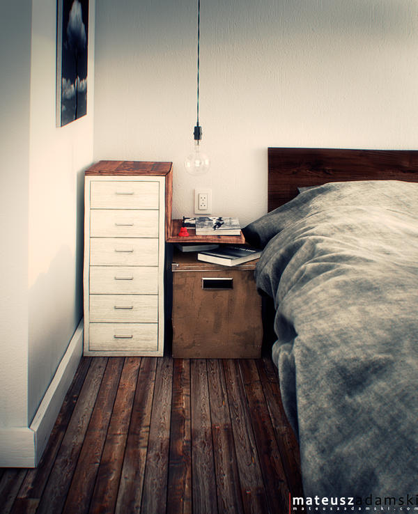 Industrial Bedroom by Ineray