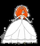 Sara bellum (peach wedding dress)