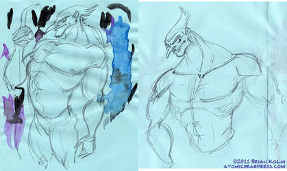 Bird Lord sketches 2-2011
