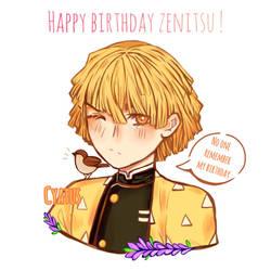 Happy Birthday Zenitsu ! by Cyatus