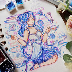 Blue tea by Cyatus