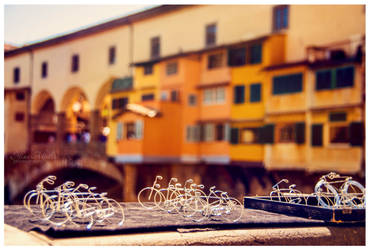 Bikes at Ponte Vecchio by eileenel