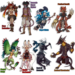 Fantasy Designs for CORE n DA Points [3/8 Open] by QviCreations