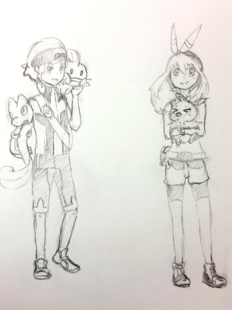 PokemonTrainers Orlando (Brendan) and Anna (May) by KawaiiManaphy