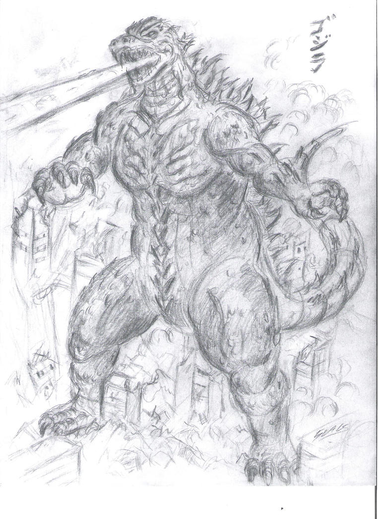Gojira doodle by jrseals