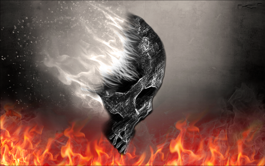 fire skull by kz5 on deviantart