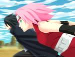 Collab- Sakura and Sasuke by NeoSM2503