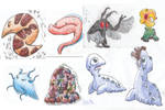Random colored creatures