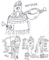 1900 Dalek Sketch 1 by Fluffy-The-Watcher