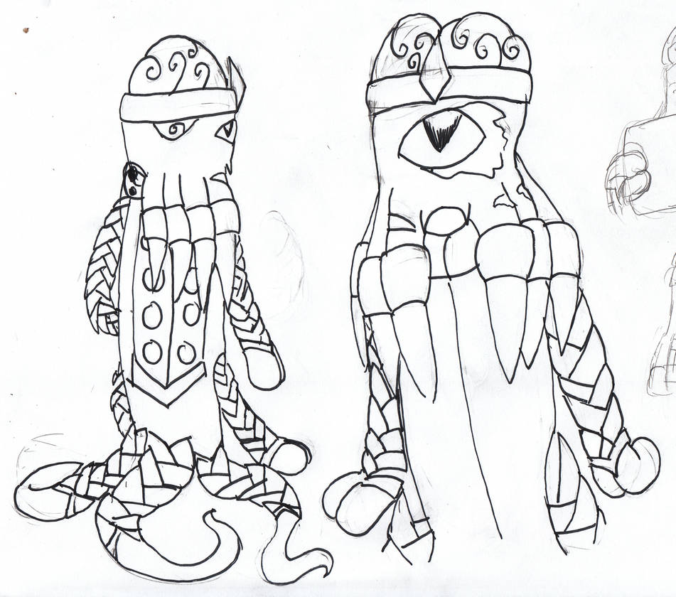 Emperor Xeno sketches by Fluffy-The-Watcher