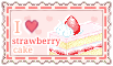I love strawberry cake  (stamp) by stamp-queennn