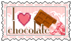 I love chocolate  (stamp) by stamp-queennn