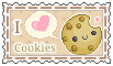 I love cookies  (stamp) by stamp-queennn