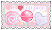 I love lollipops  (stamp) by stamp-queennn