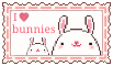 I love Bunnies (stamp) by stamp-queennn