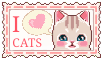 I love cats  (stamp) by stamp-queennn