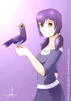 Dovey and Her Dove by AhmadaFadhil