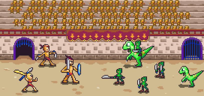 Gladiators vs. Goblins by ItsumiTakeya