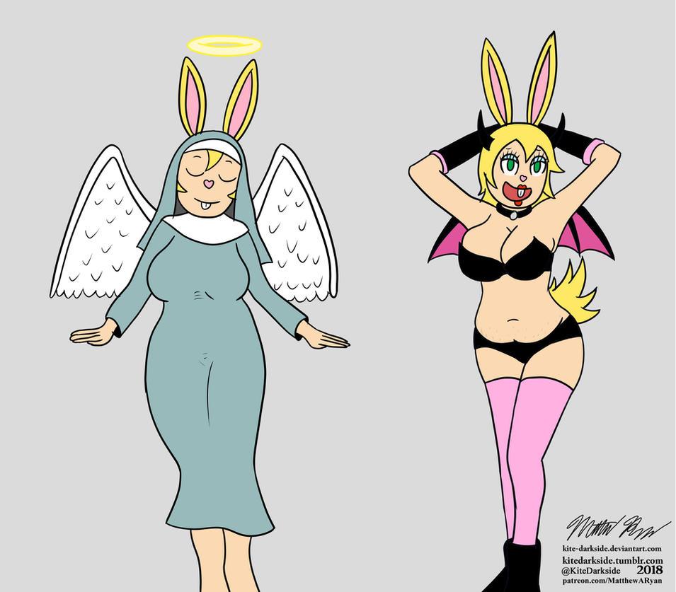 Audreys Angel and Devil by Kite-Darkside