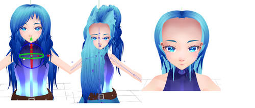 MMD Hair Glitch...Help? by SailorFireTiger