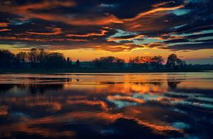 river sunset 2 by alexandrdeviant
