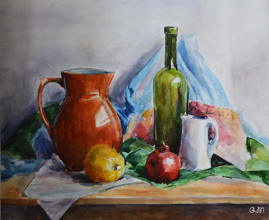 My first watercolor still life by gmartdesign on deviantart for My first watercolor painting