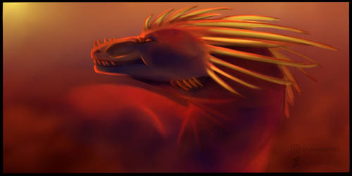 A dragon on the red planet by CrystalNight55