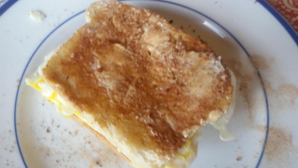 My first fried egg sandwich by Aqua-Woods