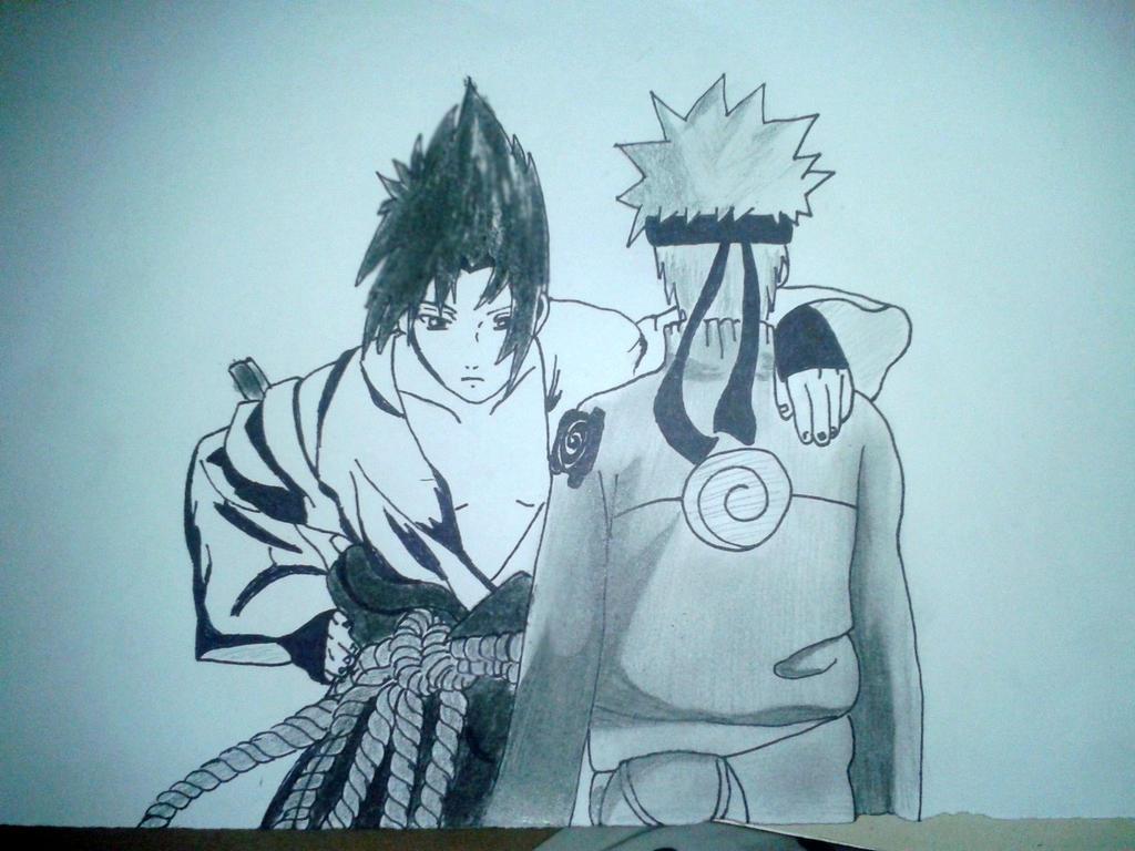 Sasuke-Naruto by Fantart1
