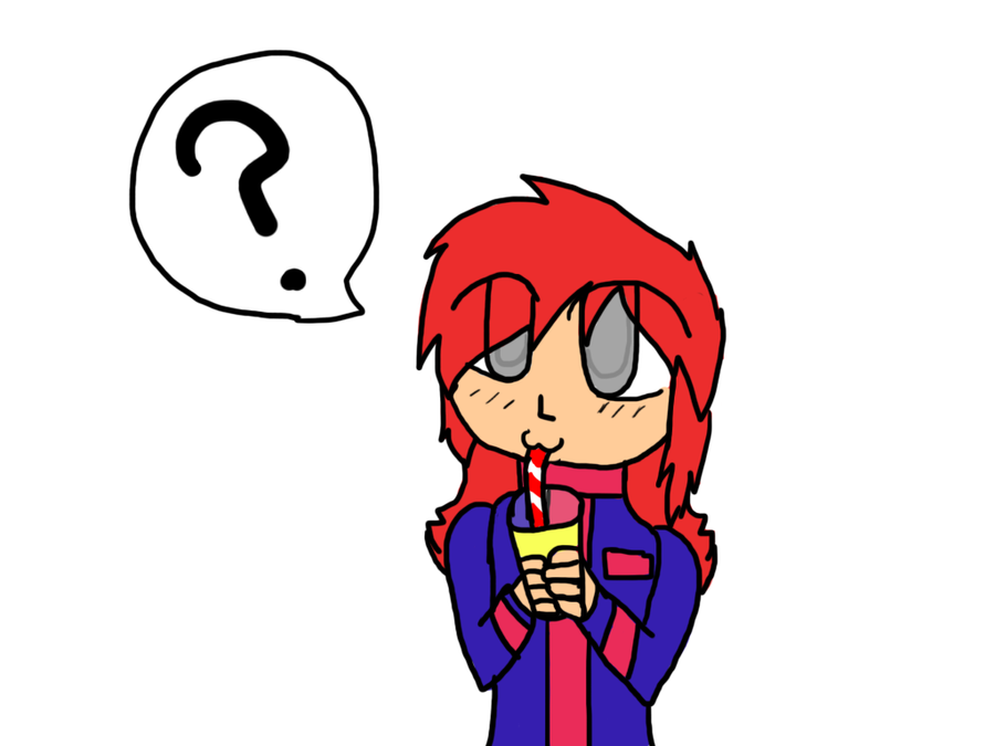 Nonchalantly Drinking Something by PickledEevee on DeviantArt