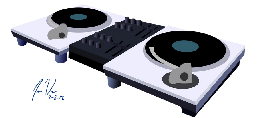 dj pon 3 turntables by epic panda17 on deviantart. Black Bedroom Furniture Sets. Home Design Ideas