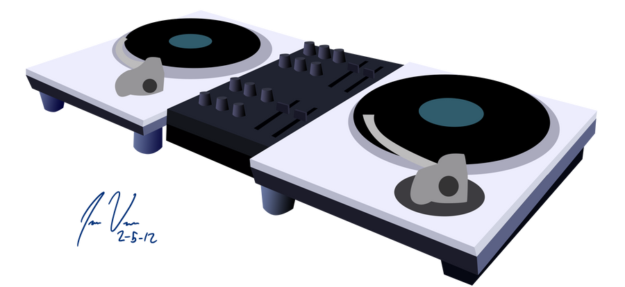 Dj Pon-3 turntables by Epic-Panda17