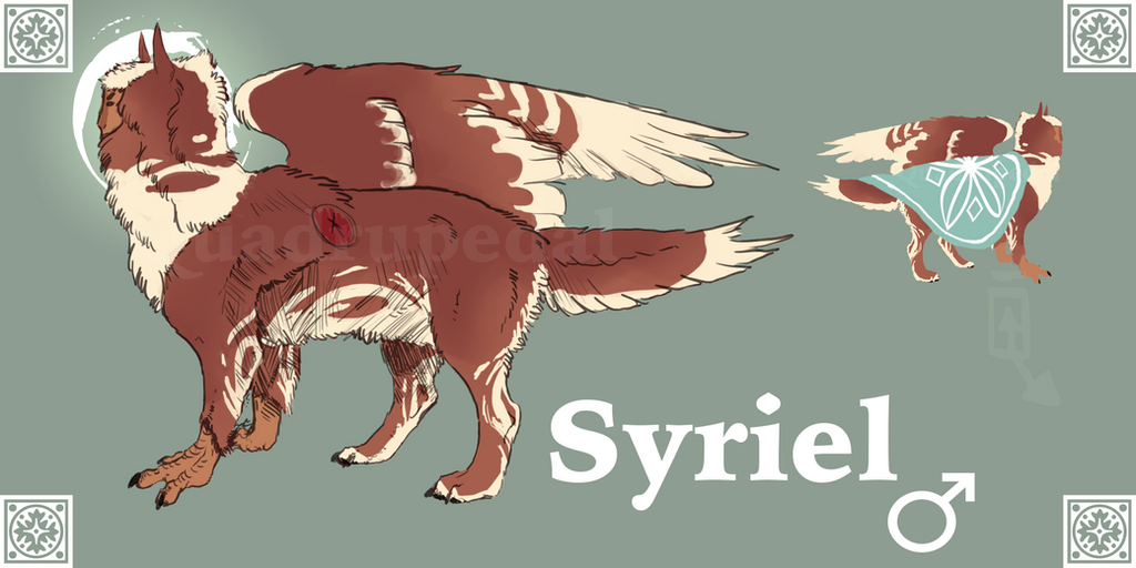Syriel Ref Sheet by Quadrupedal