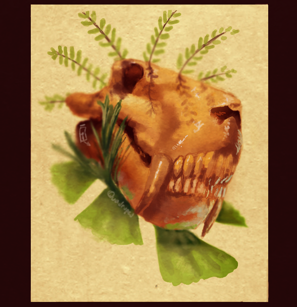 Gorgonopsid Among Plants by Quadrupedal