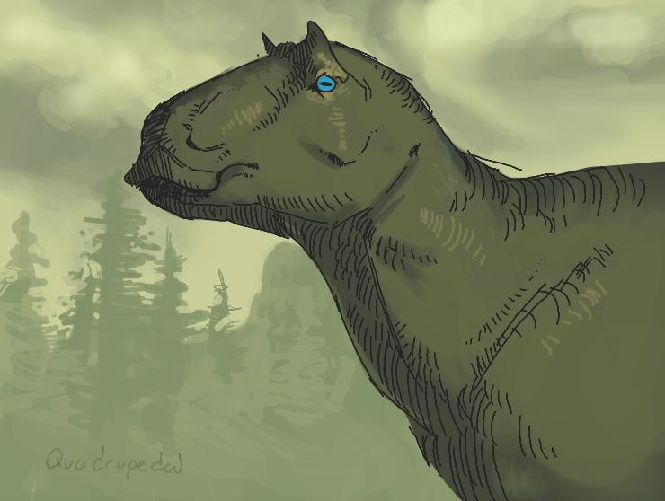 Maiasaura peeblesorum by Quadrupedal